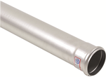 "BLUCHER Stainless Steel 3"" Push-Fit Pipe .5L 316L"