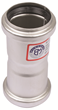 "BLUCHER Stainless Steel 1 1/2"" Double Coupling 316L"