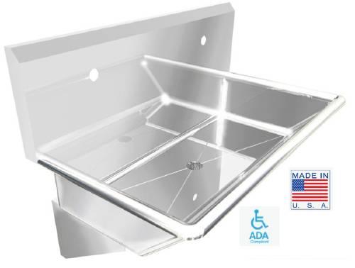 WICKETTS WWT 4820 ADA Stainless Steel Wash Sink